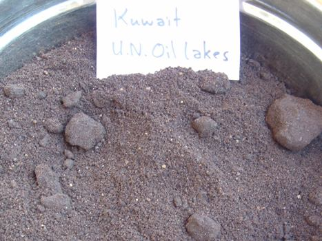 Kuwait Oil Sand Before Treatment